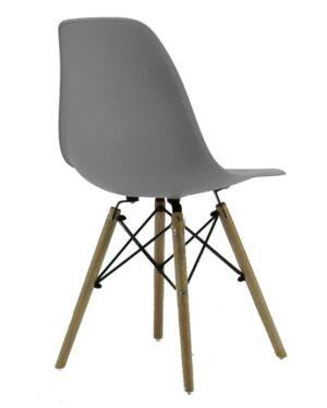 Cadeira Eames Dkr Wood Cinza