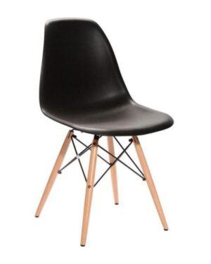 Cadeira Eames Dkr Wood Preto