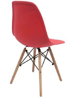 Cadeira Eames Dkr Wood Vermelho