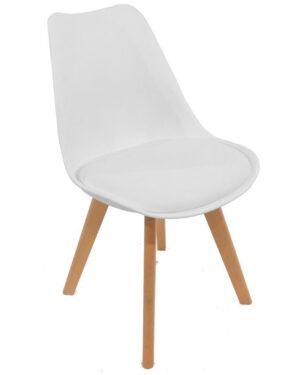 Cadeira Saarinen Wood Branco