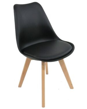 Cadeira Saarinen Wood Preto