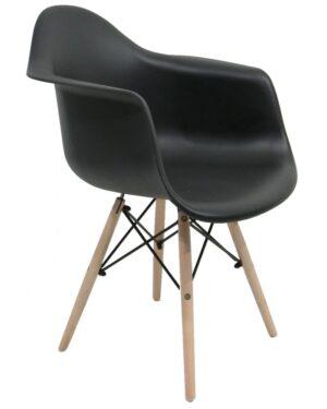 Cadeira Eames Dar Wood Preto