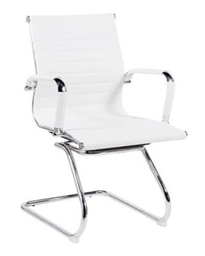 Cadeira Gerente Esteirinha Fixa Branco
