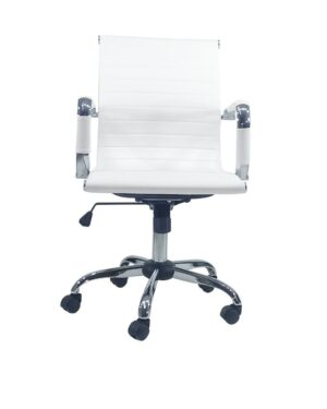 Cadeira Gerente Esteirinha PU Branco