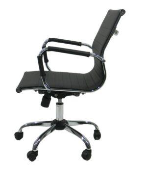 Cadeira Gerente Esteirinha PU Preto