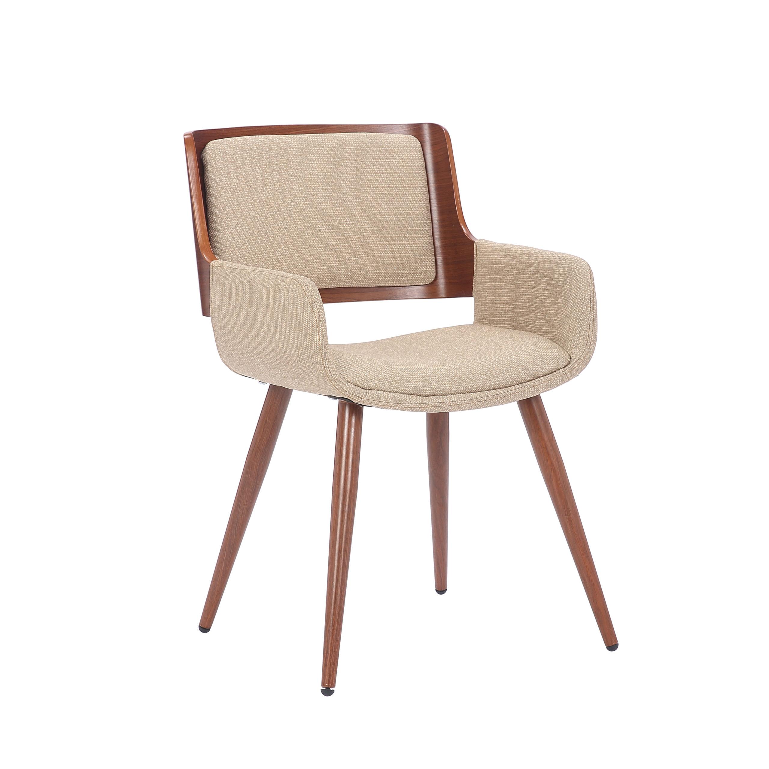 cadeira-design-exclusivo-para-venda-bavaria-linho-bege-confortavel-com-braços-base-aço-pintura-imitando-madeira-angulo-frontal