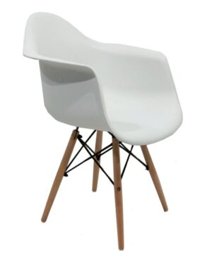 Cadeira Eames Dar Wood Branco