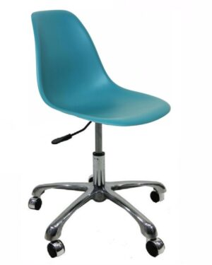 Cadeira Eames Dkr Office Turquesa