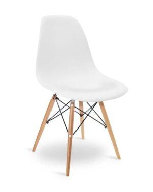 Cadeira Eames Dkr Wood Branco