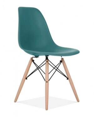 Cadeira Eames Dkr Wood Turquesa