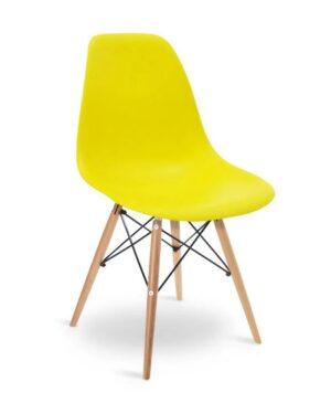 Cadeira Eames Dkr Wood Amarelo