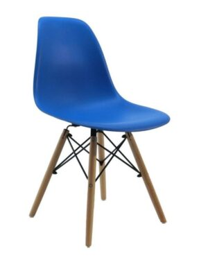 Cadeira Eames Dkr Wood Azul Royal