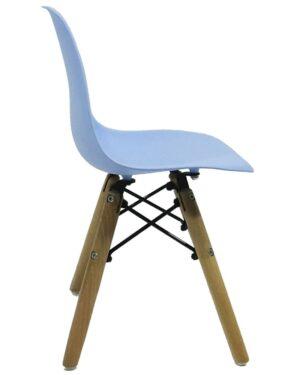 Cadeira Infantil Eames Dkr Wood Azul Claro