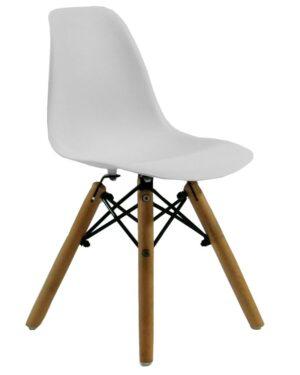 Cadeira Infantil Eames Dkr Wood Branco