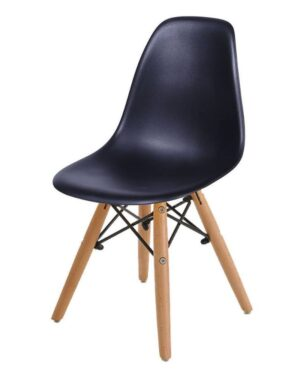 Cadeira Infantil Eames Dkr Wood Preto