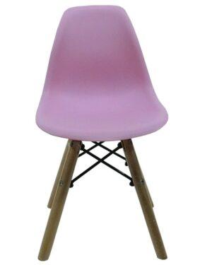 Cadeira Infantil Eames Dkr Wood Rosa
