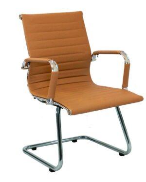 Cadeira Gerente Esteirinha Fixa Caramelo