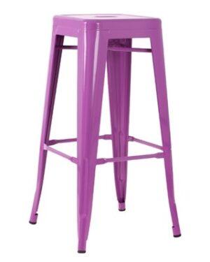 Banqueta Iron Metálica Púrpura