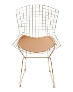 Cadeira Bertoia Cobre Assento Cobre