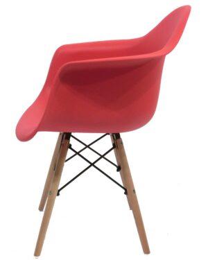 Cadeira Eames Dar Wood Vermelho