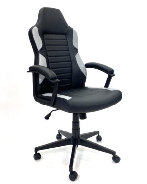 Cadeira Gamer Preto e Cinza