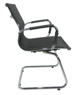 Cadeira Gerente Esteirinha Tela Fixa Preto