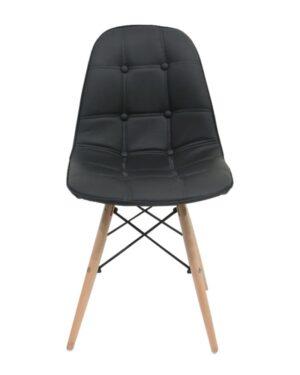 Cadeira Eames Dkr Botonê Wood Preto