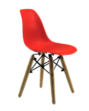 Cadeira Infantil Eames Dkr Wood Vermelho