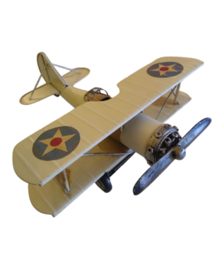 Avião Decorativo Bege