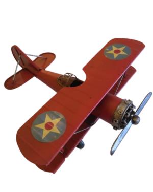 Avião Decorativo Vermelho