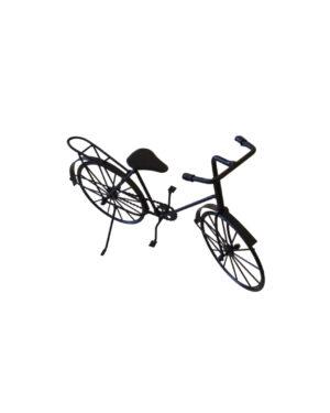 Bicicleta Decorativa Metal Preta