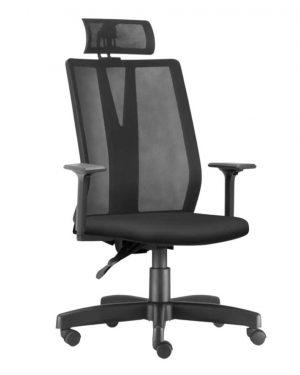Cadeira Verona Presidente Preta