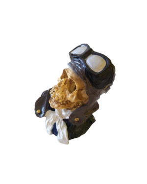 Caveira Decorativa Piloto