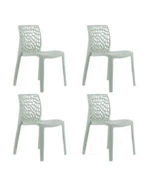 Jogo 4 Cadeiras Gruvyer Branco