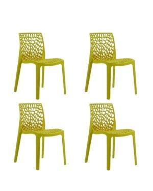 Jogo 4 Cadeiras Gruvyer Amarela