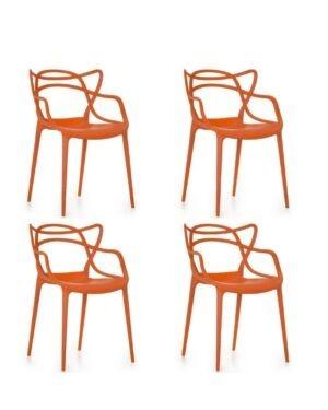 Jogo 4 Cadeiras Mix Laranja