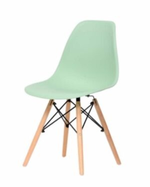 Cadeira Eames Dkr Wood Green Tea