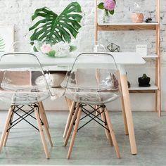 Cadeira Eames Dkr Wood Cristal