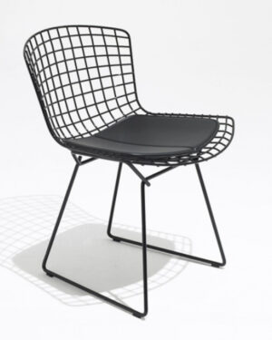 Cadeira Bertoia Preto Assento Preto