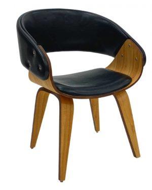 Cadeira Fama Wood Preto Brilho